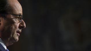 Le président de la République François Hollande, à Paris, le 17 octobre 2014. ( PHILIPPE WOJAZER / REUTERS)