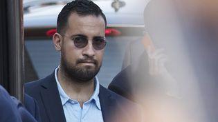 Alexandre Benalla, le 16 juillet 2018 à Paris. (THOMAS SAMSON / AFP)