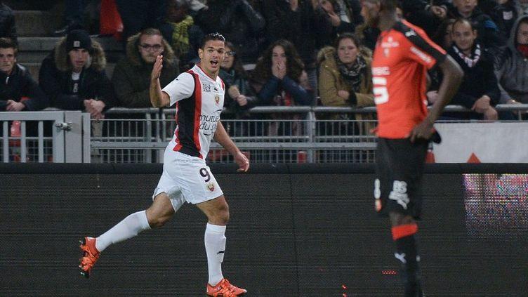 Une fois de plus, Hatem Ben Arfa (OGC Nice) s'est montré magistral face au Stade Rennais, auteur de son septième but de la saison et à l'origine de deux autres... (JEAN-SEBASTIEN EVRARD / AFP)