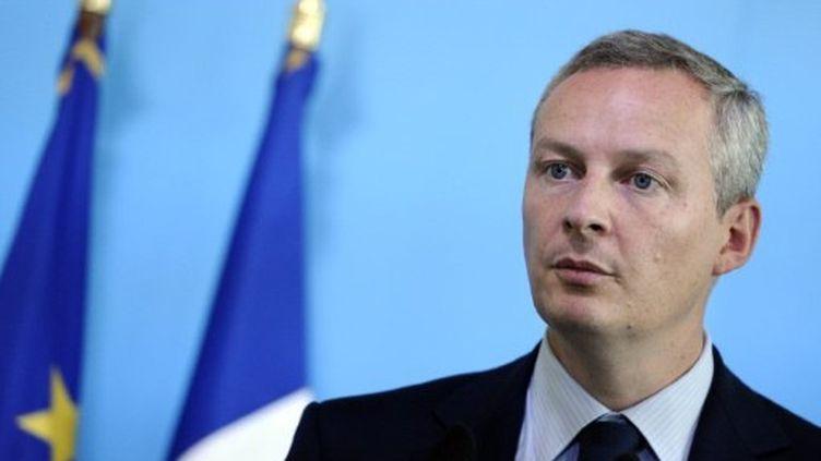 Bruno Le Maire, chargé de coordonner le projet de l'UMP pour 2012 (MIGUEL MEDINA / AFP)