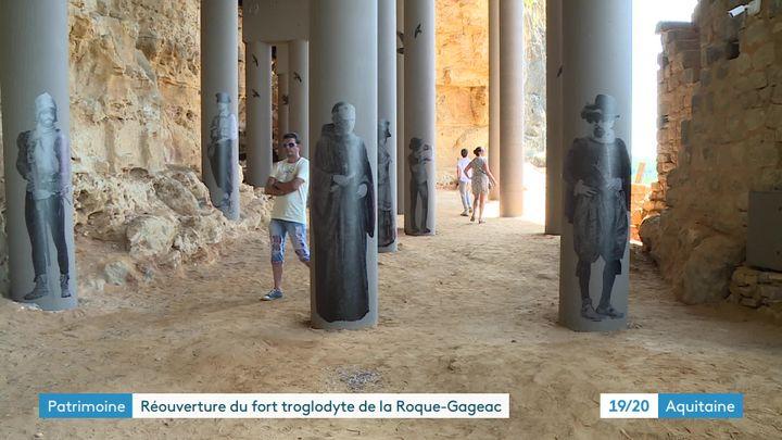 Les travaux de consolidation du fort - 18 colonnes rendant hommage aux figures historiques de la région ont été installées (France 3 Aquitaine)