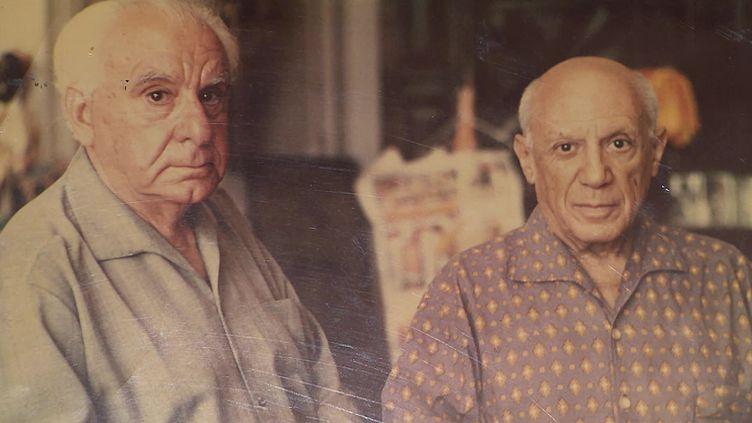 Christian Zervos et Pablo Picasso. (CAPTURE D'ÉCRAN FRANCE 3 / C. HEUDES)