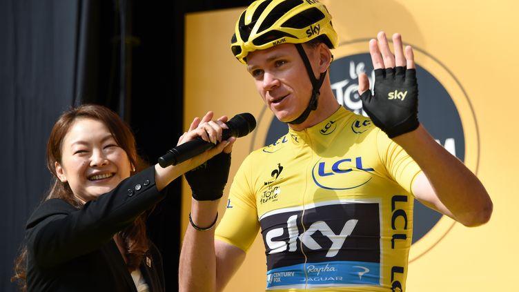Le double vainqueur du Tour de France, Christopher Froome, le 24 octobre 2015 à Saitama (Japon). (TOSHIFUMI KITAMURA / AFP)