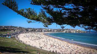 La plage de Bondi à Sydney (Australie), le 5 octobre 2020. (DAVID GRAY / AFP)