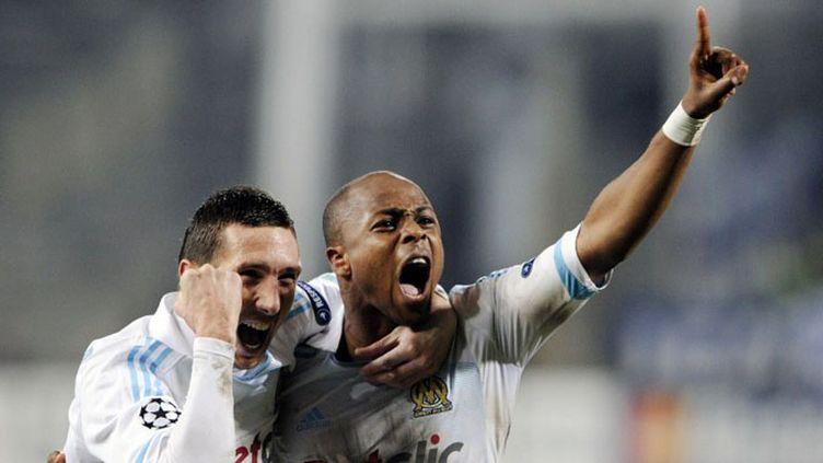 Amalfitano et Andre Ayew (BORIS HORVAT / AFP)