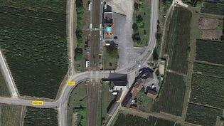 Le passage à niveau d'Avenay-Val-d'Or dans la Marne où s'est produit l'accident. (GOOGLE MAPS)
