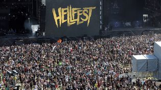 Illustration du festival Hellfest à Clisson, le 16 juin 2017. (LUDOVIC MARIN / AFP)