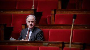 Le député-maire de Bègles, Noël Mamère, assiste à la séance de questions au gouvernement, le 27 avril 2016, à l'Assemblée nationale. (MAXPPP)