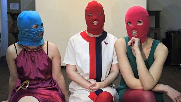 Les Pussy Riot, le 17 février 2012 à Moscou.  (Sergey Ponomarev/AP/SIPA)