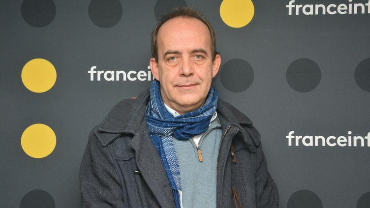 """Patrick de St Exupéry, co-fondateur du nouveau magazine """"Ebdo"""". (JEAN-CHRISTOPHE BOURDILLAT / RADIO FRANCE)"""