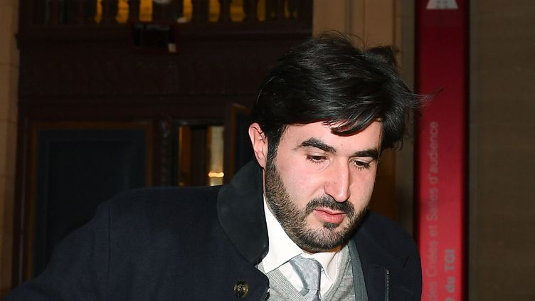 Nadav Bensoussan, le 27 février 2017 à Paris, au premier jour de son procès pour blanchiment de fraude fiscale. (GABRIEL BOUYS / AFP)