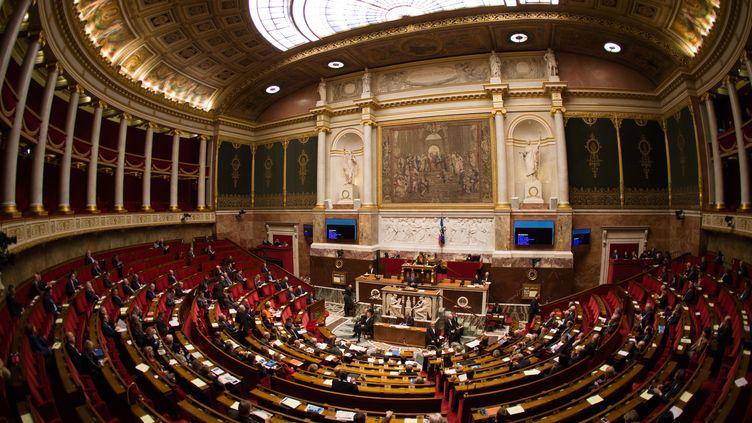 Vue générale de l'Assemblée nationale à Paris le 25 novembre 2015, pendant la séance de questions au gouvernement. (CITIZENSIDE/YANN BOHAC / CITIZENSIDE)