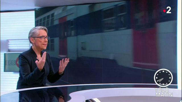 """Les 4 Vérités - """"La grève, ce n'est jamais la solution"""" selon Elisabeth Borne, ministre des Transports"""