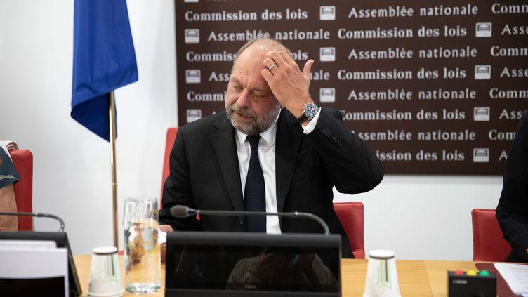 Le ministre de la Justice Eric Dupond-Moretti, lundi 20 juillet 2020 devant la commission des lois de l'Assemblée nationale, à Paris. (MAXPPP)