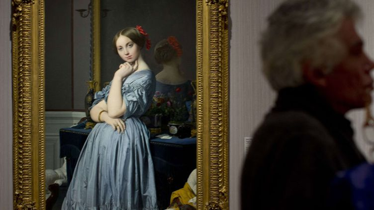"""Le """"Portrait de la comtesse d'Haussonvoille"""" d'Ingres exposé au Mauritshuisà La Haye  (Peter Dejong / AP / SIPA)"""