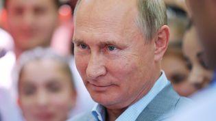 Le président russe Vladimir Poutine, le 15 août 2018. (ALEXEI DRUZHININ / AFP)