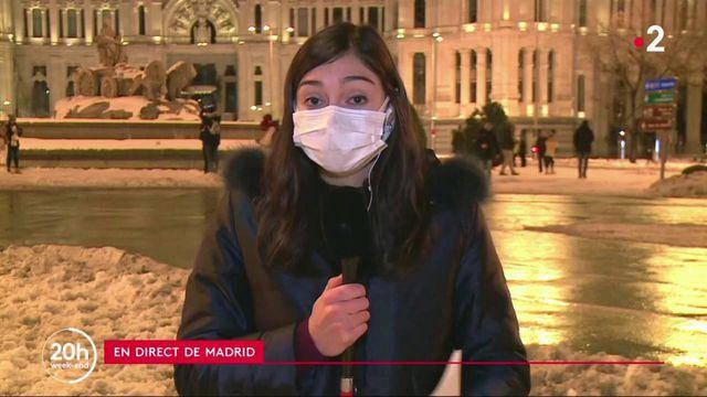 Tempête de neige à Madrid : l'armée mobilisée
