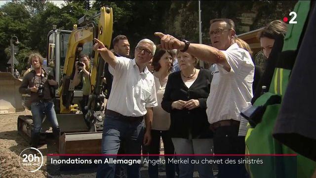 Inondations en Allemagne : Angela Merkel au chevet des habitants après la catastrophe