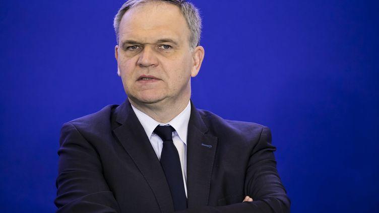 François-Noël Buffet, sénateur Les Républicains du Rhône, le 18 avril 2018 au siège du parti à Paris. (VINCENT ISORE / MAXPPP)