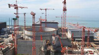 Vue du chantier de construction EPR 3 Nouvelle Génération deFlamanville(Manche) prise le 11 mai 2011 . (OUEST FRANCE/AFP)