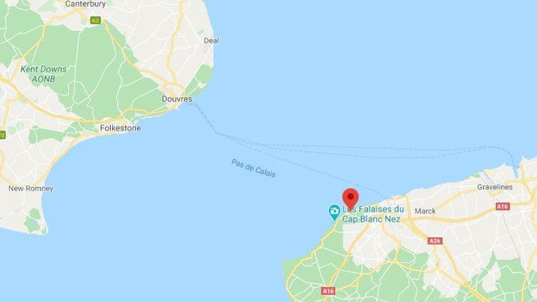Capture d'écran situant la Manche entre la France et la Grande-Bretagne. (GOOGLE MAPS)