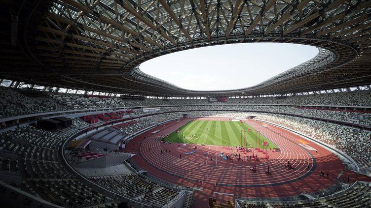 La cérémonie d'ouverture des Jeux olympiques se déroulera au Stade olympique de Tokyo, le 23 juillet 2021. (FRANCK ROBICHON / EPA)