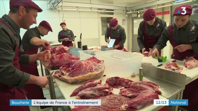 Championnat de monde de la boucherie : l'équipe de France est à l'entraînement