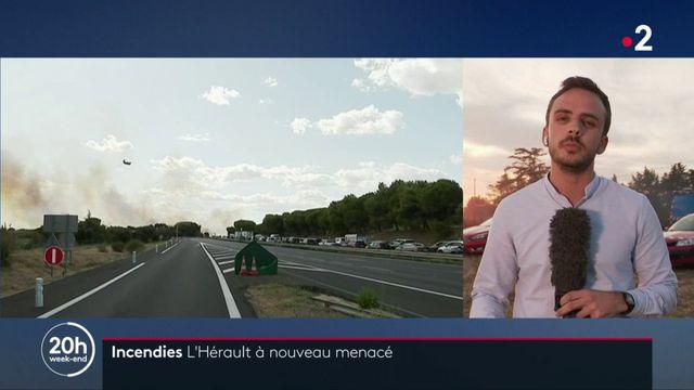 Hérault : l'A9 fermée à la circulation en raison d'un incendie