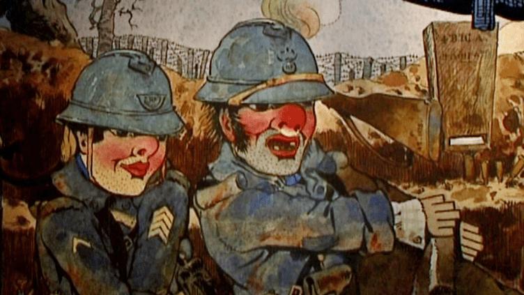 Guignol et son compère Gnafron dans les tranchées.  (France 3)