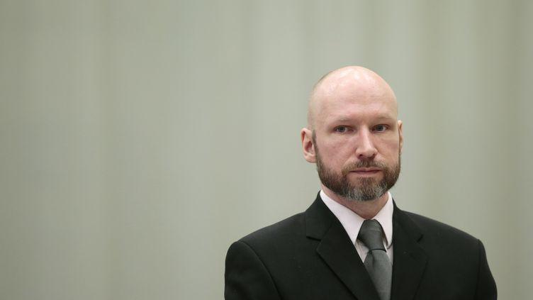 Anders Behring Breivik, le 18 janvier 2017 à Skien (Norvège). (LISE AASERUD / NTB SCANPIX / AFP)