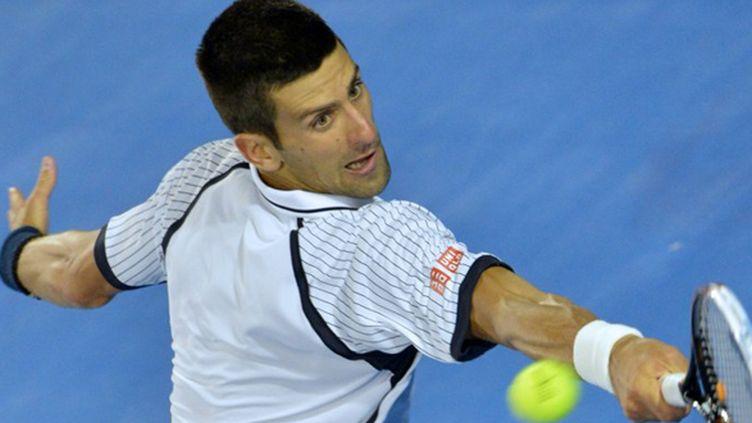 Djokovic sur son revers (PETER PARKS / AFP)