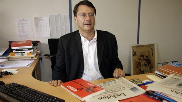 Erik Izraelewicz, ici en 2005, lorsqu'il travaillait aux Echos. (AFP - Stéphane de Sakutin)