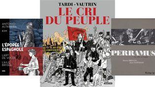 TROIS REGARDS SUR LA GRANDE HISTOIRE (KIM, DENOÊL GRAPHIC / TARDI, CASTERMAN / BRECCIA, FUTUROPOLIS)