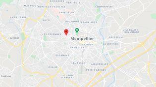 Le quartier des Arceaux à Montpellier. (GOOGLE MAPS)