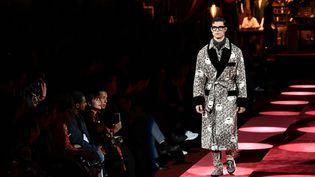 Le défilé Dolce & Gabbana pour la collection Automne/Hiver 2019/2010 à Milan en janvier 2019. (MARCO BERTORELLO / AFP)