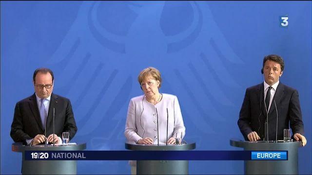 Brexit : Hollande, Merkel et Renzi réunis à Berlin