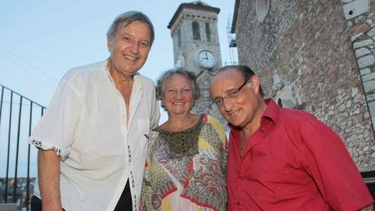 Marthe Villalonga, Daniel Mesguich et Philippe Bender pour un hommage commun à Cmausaux Nuits Muicales du Suquet  (PHOTOPQR/NICE MATIN)