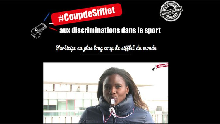 (#CoupdeSifflet aux discriminations dans le sport)