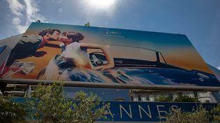 Affiche du 71e édition du Festival de Cannes, en mai 2018. (ROLAND MACRI / MAXPPP)