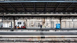 La gare de l'Est à Paris, le 5 décembre 2019. (BENJAMIN MENGELLE / HANS LUCAS / AFP)
