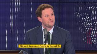 Clément Beaune, secrétaire d'État chargé des Affaires européennes, sur franceinfo le 21 août 2020. (FRANCEINFO / RADIOFRANCE)