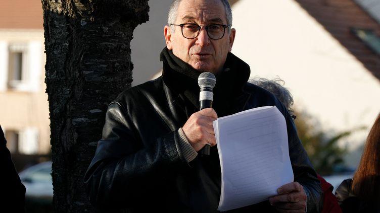 Éric Mouzin, le père d'Estelle, lors d'un rassemblement en sa mémoire, le 9 janvier 2021. (GEOFFROY VAN DER HASSELT / AFP)