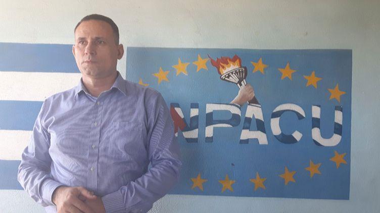 José Daniel Ferrer, du mouvement patriotique cubain, se dit prêt à fournir une liste de prisonniers politiques à la ministre française, Ségolène Royal. (RADIO FRANCE / Gaële Joly)