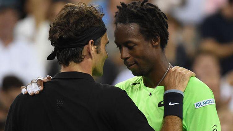 Roger Federer et Gaël Monfils à l'US Open 2014