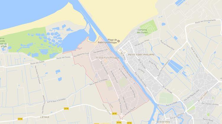 Capture d'écran de la commune deGrand-Fort-Philippe (Nord), le 20 octobre 2017. (GOOGLE MAPS / FRANCEINFO)