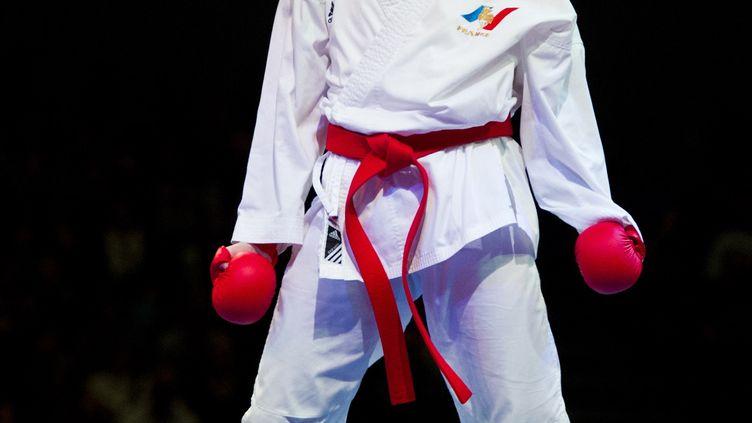 La karatéka tricolore Alizée Agier (CARMEN JASPERSEN / AFP)