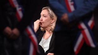 La présidente du Rassemblement national, Marine Le Pen, à Hénin-Beaumont (Pas-de-Calais), le 26 janvier 2020. (FRANCOIS LO PRESTI / AFP)