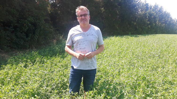 Paul François, agriculteur. (SEBASTIEN BAER / FRANCEINFO / RADIO FRANCE)