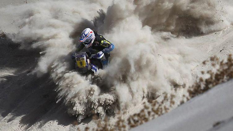 Olivier Pain (Yamaha) a été l'homme fort de la première semaine du Dakar 2013 (FREDERIC LE FLOC'H / POOL)