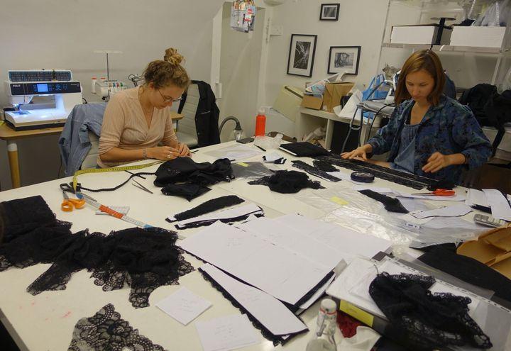 Atelier de Paloma Casile 10 rue du jour à Paris, juillet 2018  (Corinne Jeammet)